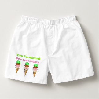 Screamed For Ice Cream Men's Cotton Boxers