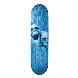 Screaming Blue Skulls Skate Board Decks