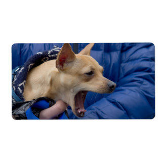 Screaming Chihuahua Custom Shipping Label