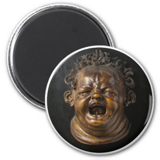 Screaming Child Stung by a Bee 2 Inch Round Magnet
