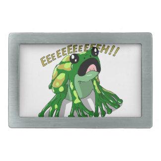 Screaming Frog Doodle Noodle Design Belt Buckles