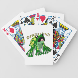 Screaming Frog Doodle Noodle Design Bicycle Playing Cards