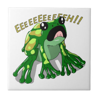 Screaming Frog Doodle Noodle Design Tile