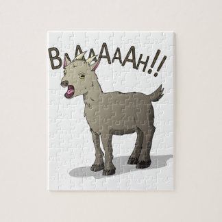 Screaming Goat Doodle Noodle Designs Jigsaw Puzzle