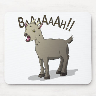 Screaming Goat Doodle Noodle Designs Mouse Pad