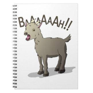 Screaming Goat Doodle Noodle Designs Notebook