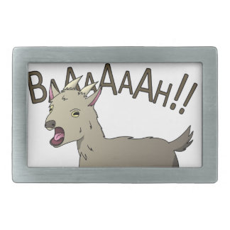 Screaming Goat Doodle Noodle Designs Rectangular Belt Buckle