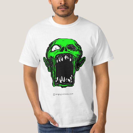 Screaming Green Zombie T-shirt