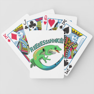 Screaming Lizard Doodle Noodle Design Bicycle Playing Cards