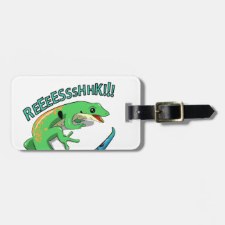 Screaming Lizard Doodle Noodle Design Luggage Tag