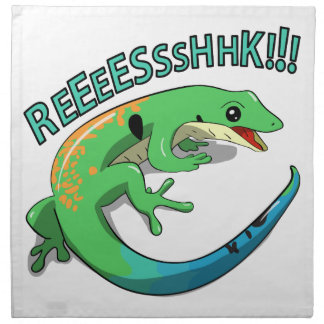 Screaming Lizard Doodle Noodle Design Napkins