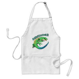 Screaming Lizard Doodle Noodle Design Standard Apron