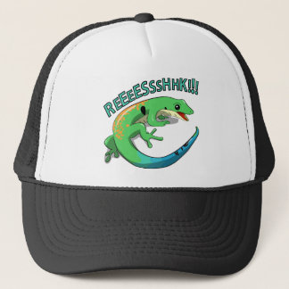 Screaming Lizard Doodle Noodle Designs Trucker Hat