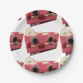 Screaming Pink Lady Cake Face Paper Plates 7 Inch Paper Plate