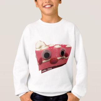screaming pink lady cake face with logo sweatshirt