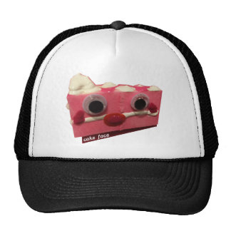 screaming pink lady cake face with logo trucker hat