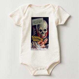 Screaming Skull Baby Bodysuit