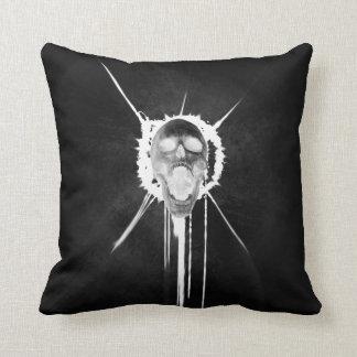 Screaming Skull (Black) Cushion