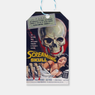 Screaming Skull Gift Tags