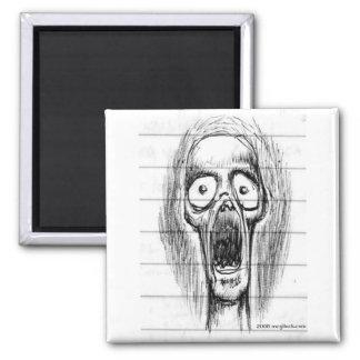 Screaming Skull Guy Magnet