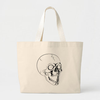 screaming skull jumbo tote bag
