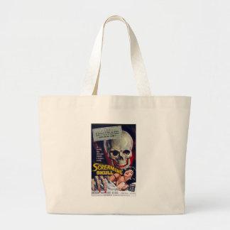 Screaming Skull Large Tote Bag