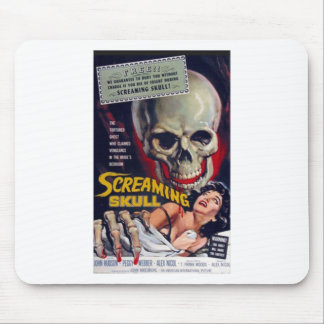Screaming Skull Mouse Pad