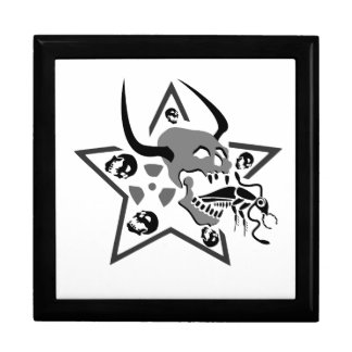 Screaming Skull Pentagram Gift Box