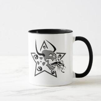 Screaming Skull Pentagram Mug