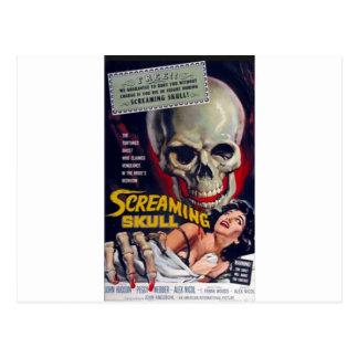 Screaming Skull Postcard