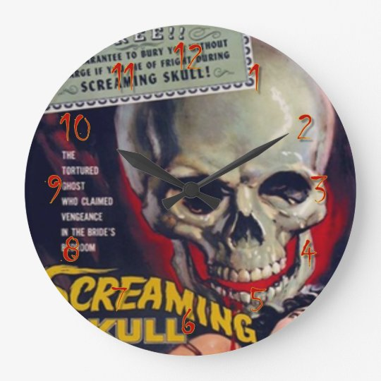 Screaming Skull Wall Clock