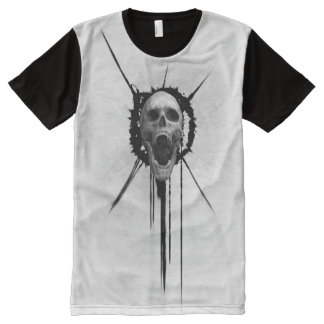 Screaming Skull (White) All-Over-Print T-Shirt