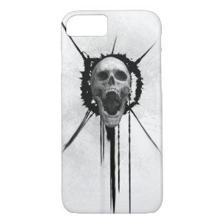 Screaming Skull (White) Iphone Case