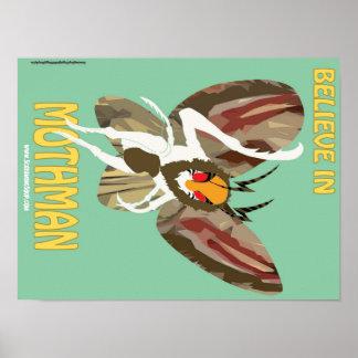 SCREAMING SOUP Believe in Mothman Poster