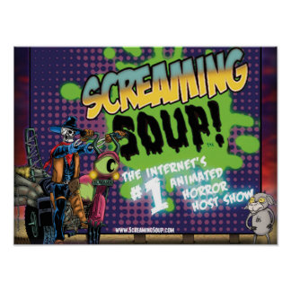 SCREAMING SOUP Deadwest and Billy Roadside Poster