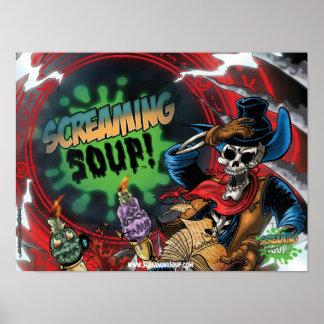 SCREAMING SOUP Deadwest Portal Poster