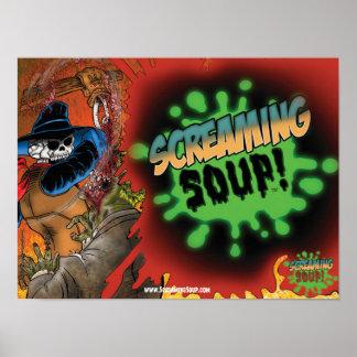 SCREAMING SOUP Deadwest Splatter Poster
