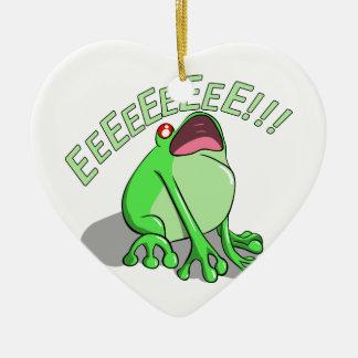 Screaming Tree Frog Doodle Noodle Design Ceramic Ornament