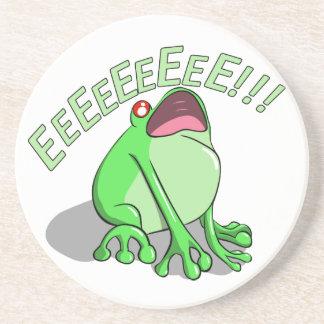 Screaming Tree Frog Doodle Noodle Design Coaster