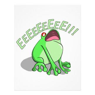 Screaming Tree Frog Doodle Noodle Design Letterhead