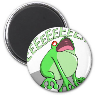 Screaming Tree Frog Doodle Noodle Design Magnet