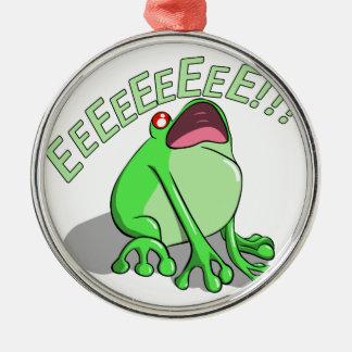 Screaming Tree Frog Doodle Noodle Design Metal Ornament