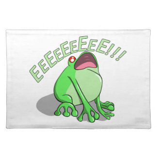 Screaming Tree Frog Doodle Noodle Design Placemat