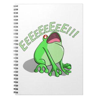 Screaming Tree Frog Doodle Noodle Design Spiral Note Book