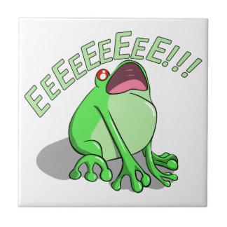 Screaming Tree Frog Doodle Noodle Design Tile