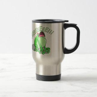 Screaming Tree Frog Doodle Noodle Design Travel Mug