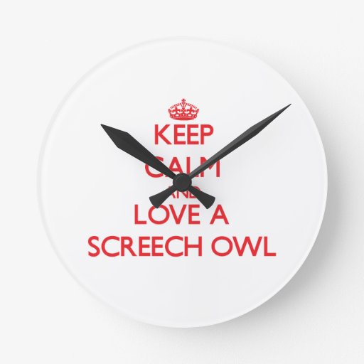 Screech Owl Wall Clocks