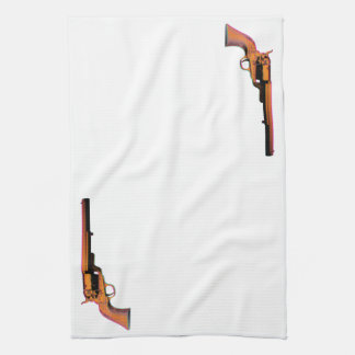 screen print gun kitchen towel