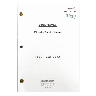 Screenplay II Pack Of Chubby Business Cards