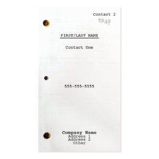 Screenplay Pack Of Standard Business Cards